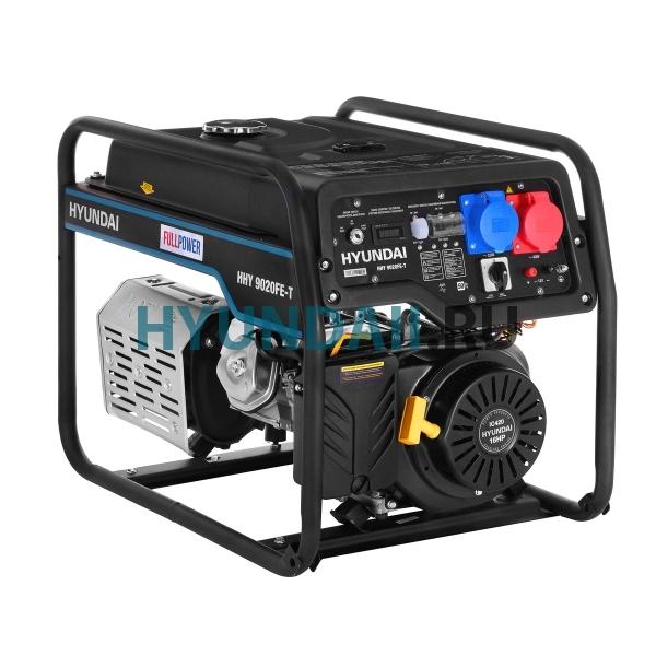 Бензиновый генератор Hyundai HHY 9020FE-T двухрежимный